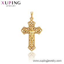 33705 xuping jewelry 24k gold plated fashion Dubai religious luxury style cross pendant